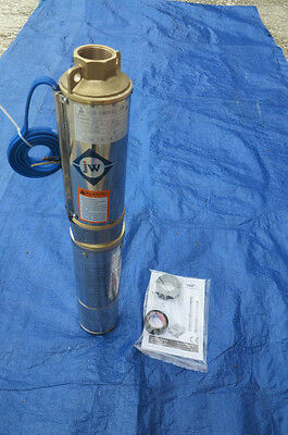 Brand New Submersible  Deep Well water Pump 1 HP Bore 220V Brass outlet 1 1/4""
