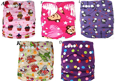 Baby-Toddlers-Diapers-Nappies-Adjustable Cotton Reusable Washable Cloth Inserts