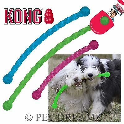 Kong Safestix Puppy & Dog Rubber Toy Stick Bends & Floats 3 Colours & 3 Sizes