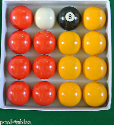 "New Competition 2"" Reds And Yellows Match Quality Pool Ball Set"