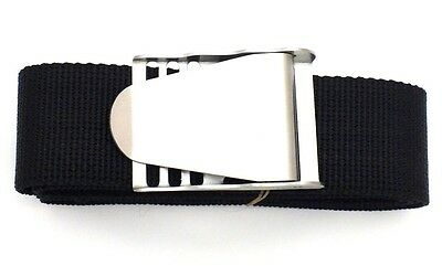DivingSnorkelling Black Weight Belt with Stainless Steel Quick Release Buckle