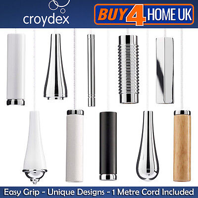 Croydex Light Pulls for Bathrooms and Kitchens including 1 Metre White Cord