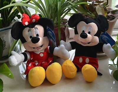 Hot Sale 2 PCS Mickey & Minnie Mouse, 30cm Baby Gift Plush Toy Free Shipping