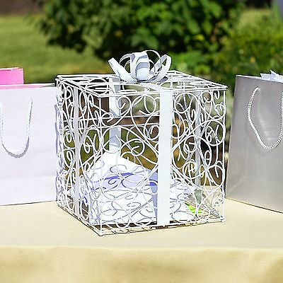 Wedding Reception Gift Card And Money Box : White Wedding Reception Gift Card and Money Box Holder USD37.49 1 of ...