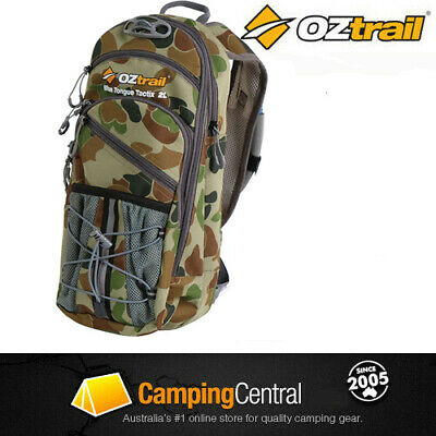OZtrail Blue Tongue 2L Camo Back Hydration Pack Bladder