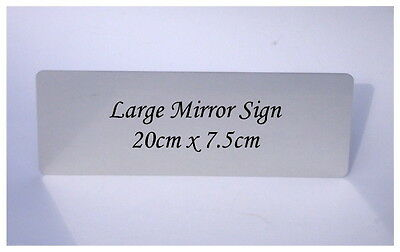 PERSONALISE BLANK MIRROR SILVER or GOLD SIGN Metal Door Room House Office Plaque