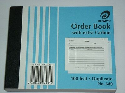 Olympic Order Book 100 leaf Duplicate No.640 NEW 100x125mm