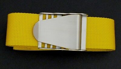 Scuba Snorkelling Yellow Weight Belt with Stainless Steel Quick Release Buckle