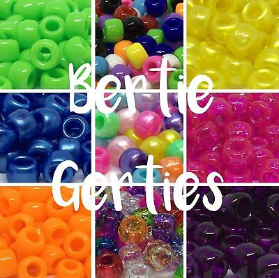 100 Opaque Pearl Glitter Sparkle Transparent Pony Beads -Mix/Single