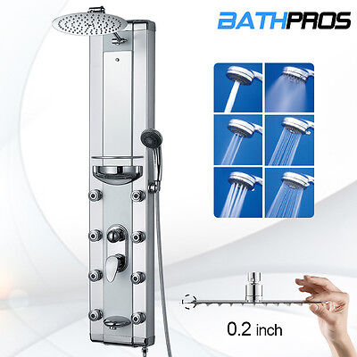 "Aluminum 51"" Shower Tower Shower Head Tub Massage Jets Spout Panel BATH-2808"