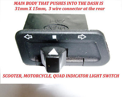 Chinese Scooter Indicator Flasher Turn Signal Switch New!