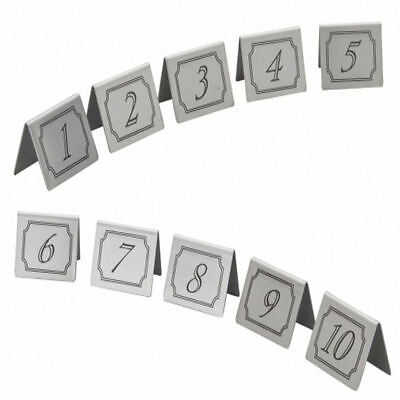 1 To 10 Stainless Steel Table Numbers | Wedding Restaurant Bars Cafe Set Signs