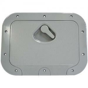 Caravan RV Access Hatch Nove Rade 375x275 Recessed Handle GREY R2380G