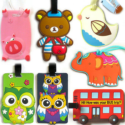 FUNKY LUGGAGE TAG / Holiday Bag Baggage Case Travel Suitcase Truck Address Label
