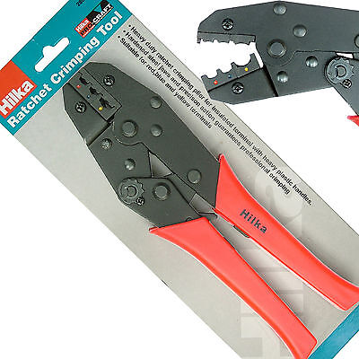 Ratchet Crimp Crimper tool for Crimping insulated electrical red blue yellow....