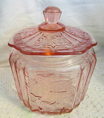 MAYFAIR OPEN ROSE DEPRESSION PINK Glass Cookie NEW
