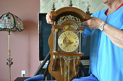 Antique Friesland Holland Wall Clock, Bell Chime, 8 day German Works,  #573