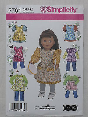 """Simplicity 2761 Pattern 18""""  Doll Clothes"""