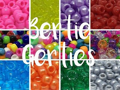 *3 For 2* 100/1000 Opaque Glitter Pearl Pony Beads - Dummy Clips, Hair Braids