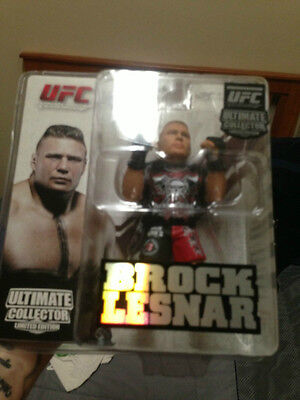 BROCK LESNAR UFC SERIES 4 ROUND 5 COLLECTORS LIMITED EDITION FIGURE MINT
