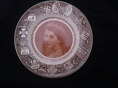 Vintage Clarice Cliff Queen Elizabeth Coronation Plate 1953 Collector Plate