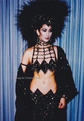 Cher Sexy Dramatic Headdress and Outfit 4x6 Photo