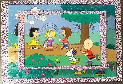 SKIPPING ROPE snoopy SALLY Peppermint Patty LUCY VINTAGE MB PUZZLE 100 p PEANUTS