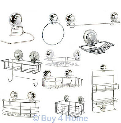 Showerdrape Super Suction Vertex Bathroom Accessories Ring Rail Basket Caddy