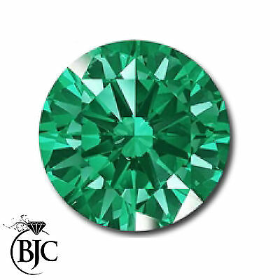 BJC® Loose Green Round Cut Natural Colombian Emerald Stones 1.80mm - 3.75mm