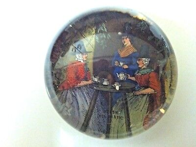 WELSH TEA PARTY PAPERWEIGHT