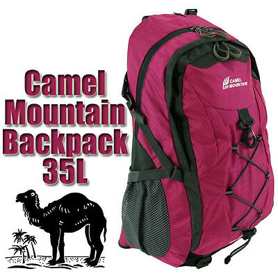 New 35L Large Bag Hiking Mountain Travel Backpack Sports Rucksack Camping Maroon