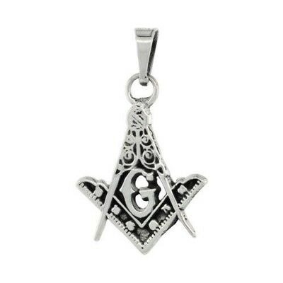LARGE STERLING SILVER Masonic Symbol Square and Compass
