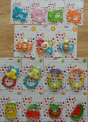 First Steps Water Filled Rattle / Teethers 6 mnths+ Bpa Free Soothing For Babies