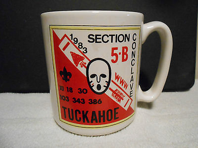 Vintage 1983 Section 5-B Conclave Mug Camp Tuckahoe Order Of The Arrow Bsa