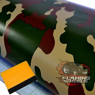 3m x 75cm army digital pixel camouflage matte camo car wrap vinyl FREE SQUEEGEE