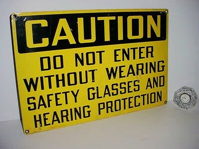 Cool Large Heavy Orig. Caution Sign  Wear Hearing Protection Cool Decor Piece