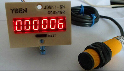 LED Digital Industrial Automatic Counter AC 220V Retail Traffic People Counting