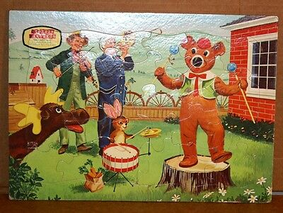 Lot of 3 Vintage Captain Kangaroo Frame Tray Puzzles EE Fairchild Corp