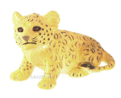 AAA 96705SIT Leopard Cub Sitting Model Animal Toy Figurine Replica - NIP