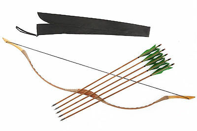 6 Green Bamboo arrows Hungarian style hunting 20-80LBS Recurve longbow