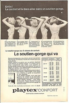 PUBLICITE SOUTIEN GORGE PLAYTEX 1965 LINGERIE Advertising - EUR 3 bf56112fd76