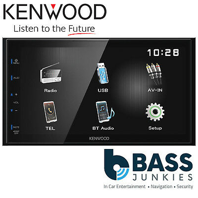 """Kenwood DMX-110BT 6.8"""" Double Din Bluetooth Mechless USB iPhone Media Car Stereo"""