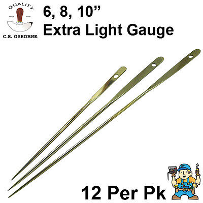 C.S. Osborne Extra Light Gauge Upholstery Regulators 12 Pack (Regulator Needles)