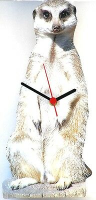 Meerkat Design Wall Clock  Made In UK Gift Boxed