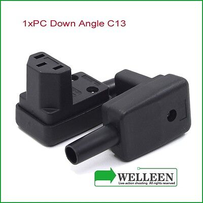 Rewireable Vertical Right Angle IEC Plug 10A C13  female, UL approved plug,
