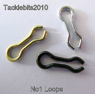 Do It Loops Eyes Size 1 Lead Mould Weight Making Stainless Brass Black  X100