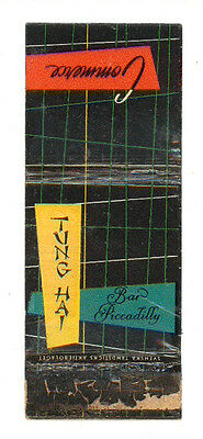Tung Hay Bar Piccadilly Matchbox Label America