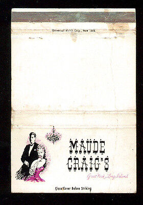Maude Craig's Great Neck Long Island Matchbox Label Anni '50 America Fiammiferi