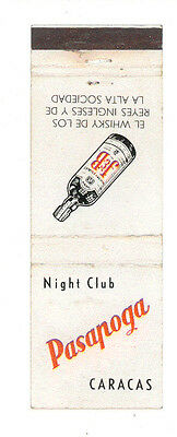 Pasapoga Night Club Caracas Venezuela Matchbox Label Anni '50 America