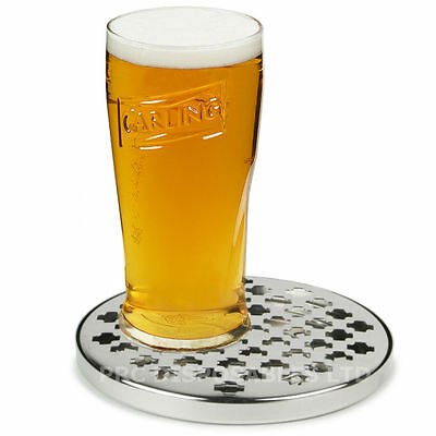 """Stainless Steel Round Drip Tray 6"""" Bar Pub Drink Accessory Trays Home Bars Pubs"""